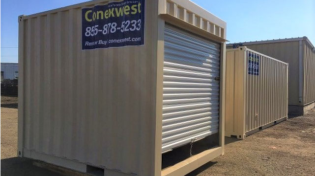 Great 10ft Storage Container For Sale With Rollup Door