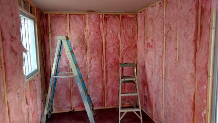 container framing and insulation