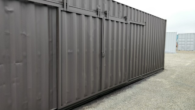 shipping container barn doors