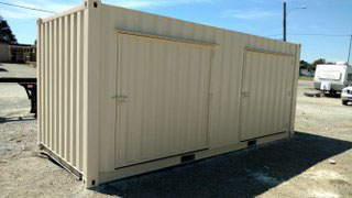 corrugated container doors