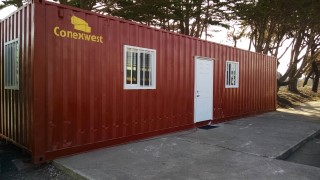 40ft dark red office container