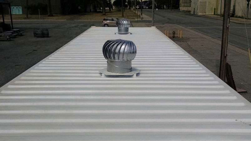 shipping container turbine vent