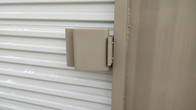 Roll up door lock box for storage containers for sale