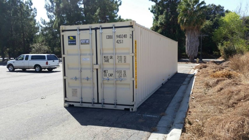 New 40ft shipping container with cargo doors on both ends for sale