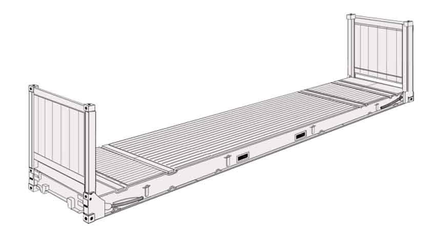 40' Flat rack