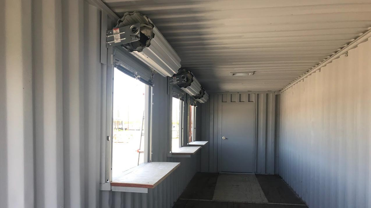 customized container roll up door shipping container storage container roll up windows window
