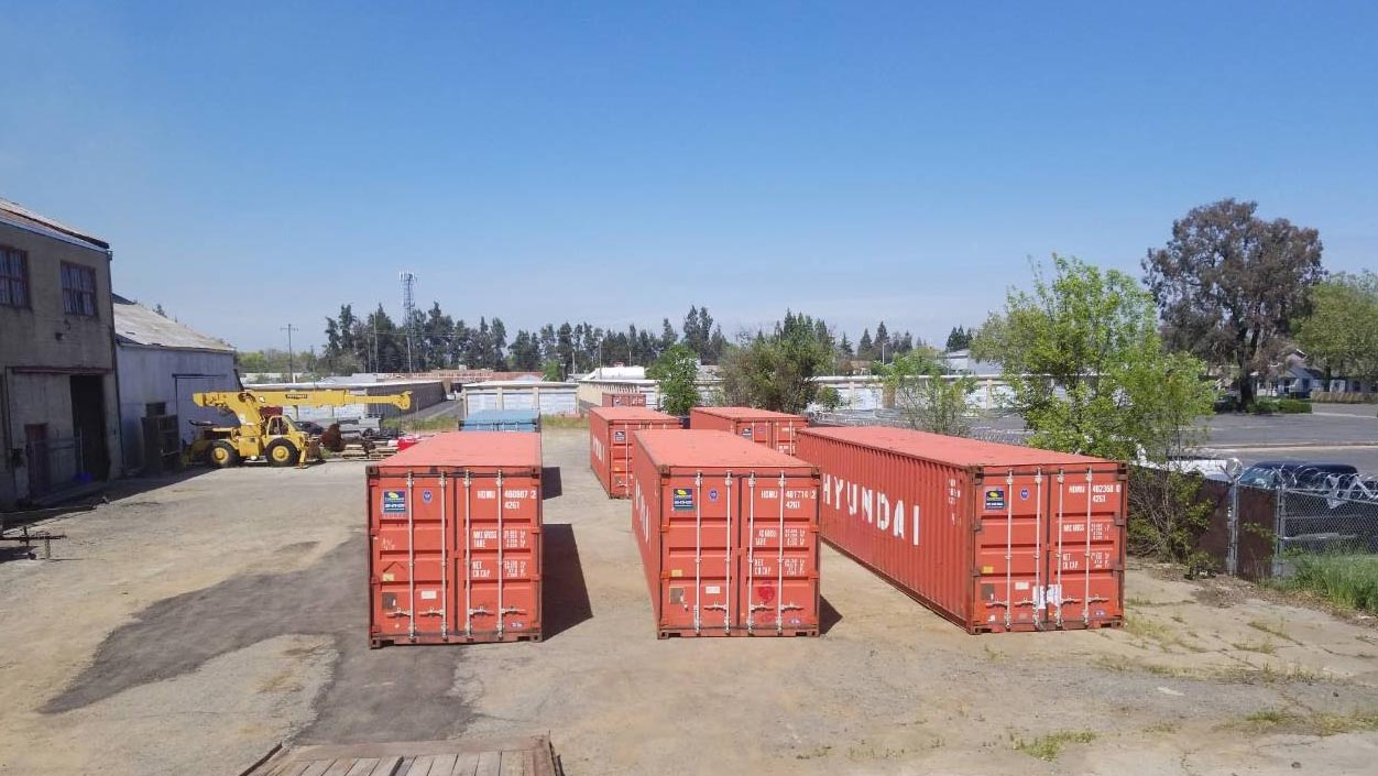 blue sky used container storage container shipping container red three containers line up