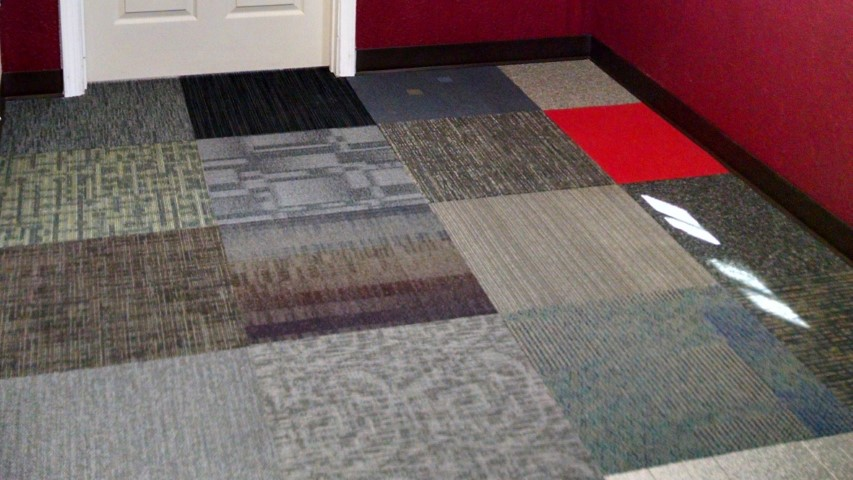 carpet floor in shipping container