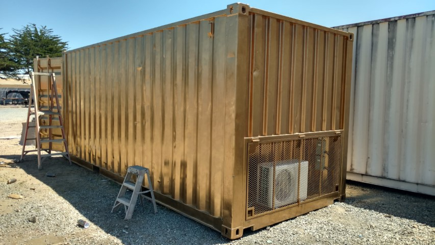 glod shipping container