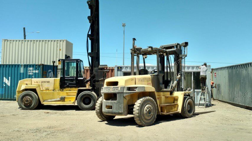 shipping container forklift