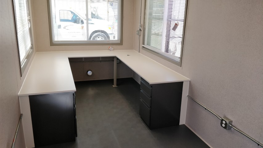 Built-in desks for shipping containers for sale