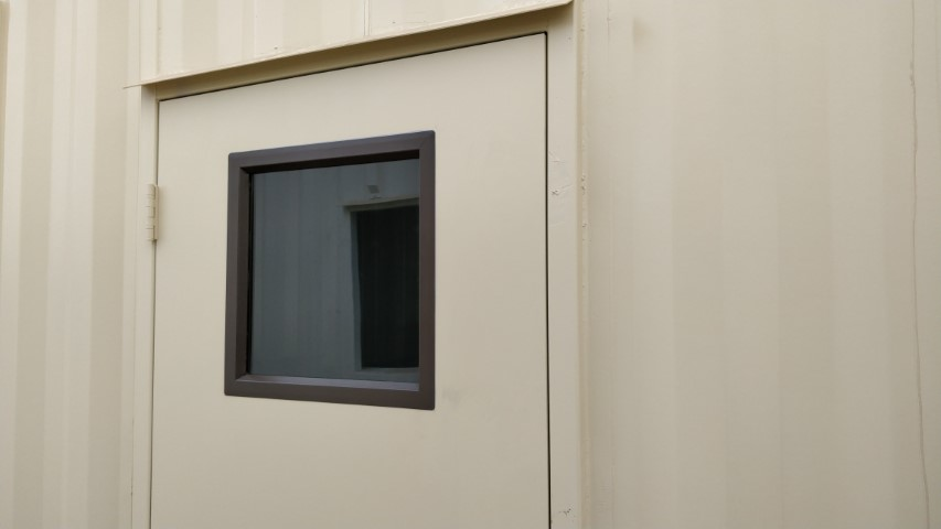 window inside of personnel door