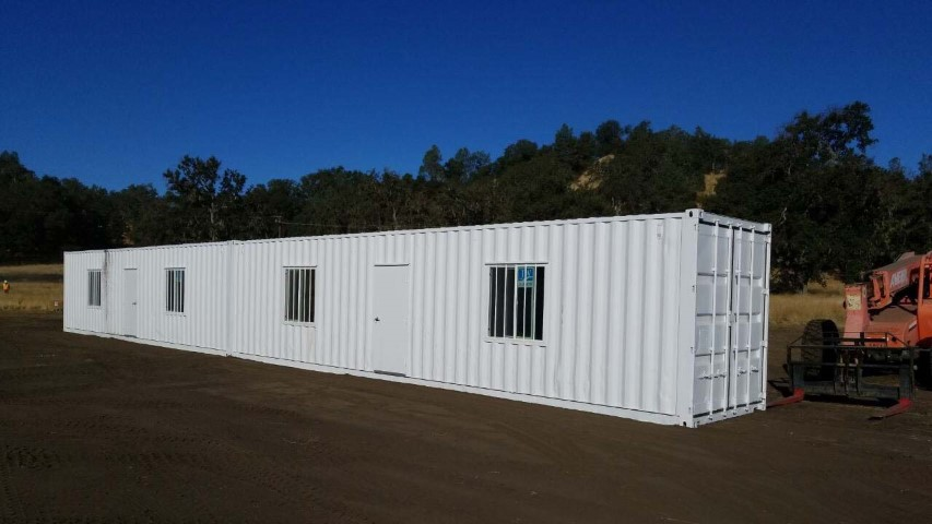 modified shipping container modified storage container with windows and man door office container 40 foot 20 foot office containers