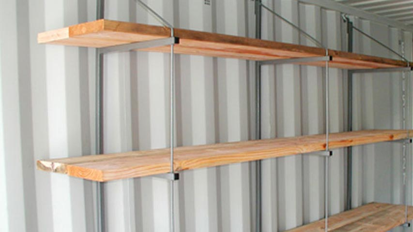 container shelves for rent