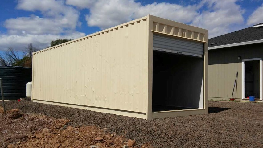 Storage Container Garage Container Garage Plans Best Good Nice & Storage Container Garage Door Shipping Container Garage DoorHome ...