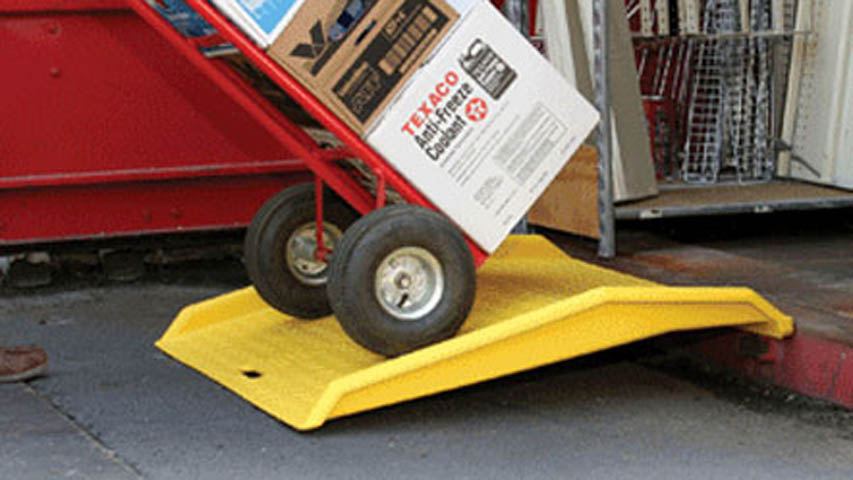 light duty container ramps for storage container