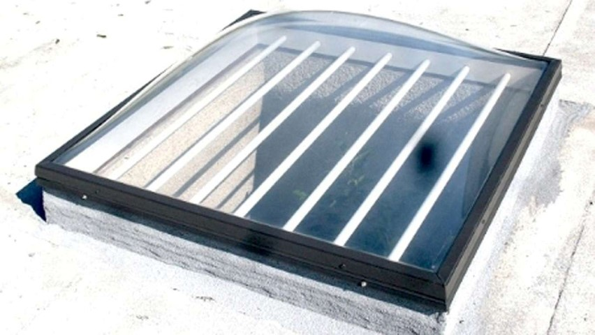 2x2 skylight with optional security bars