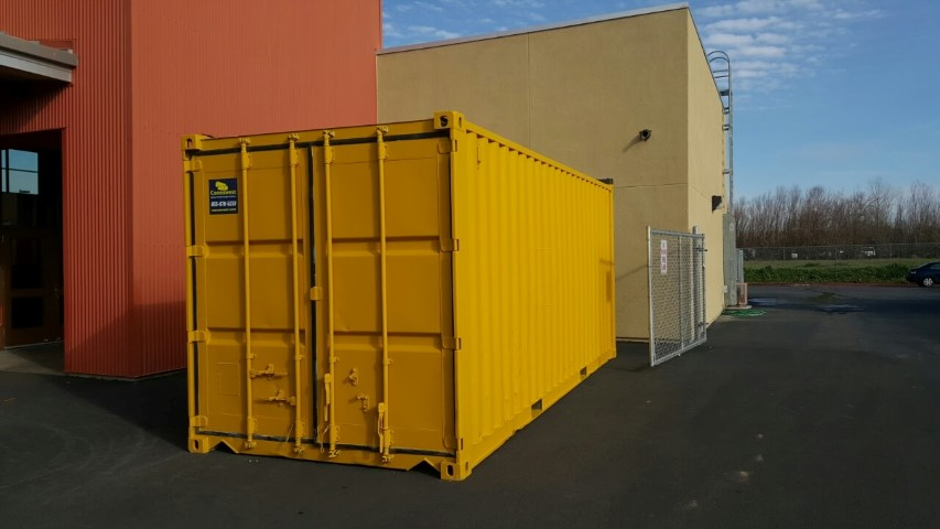 Custom yellow exterior paint for shipping containers for sale