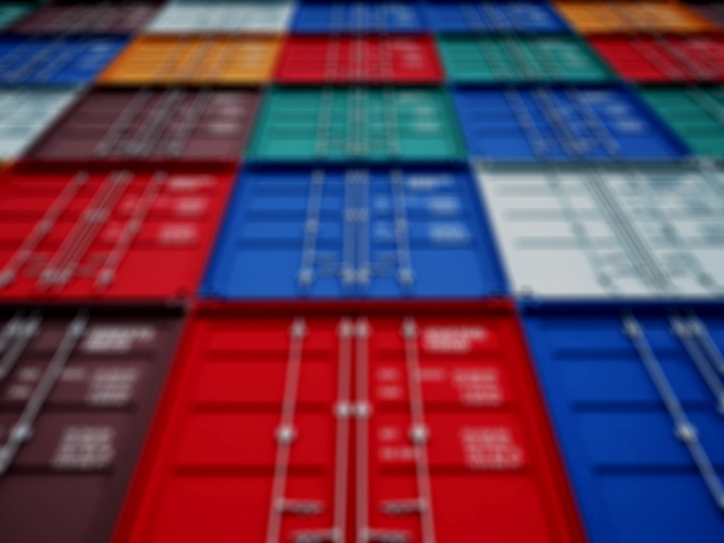 shipping containers stacked in different colors
