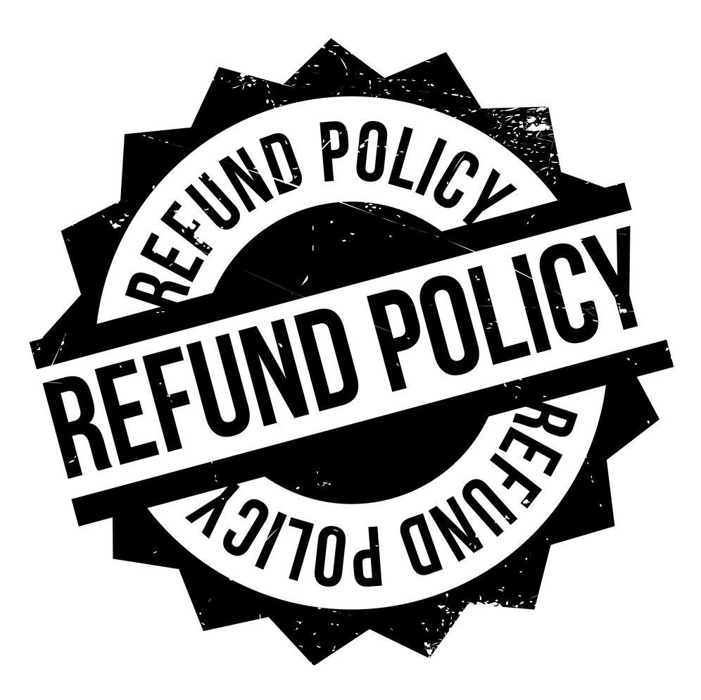 Refund policy stamp