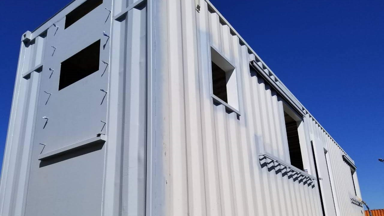 custom modified 40ft shipping container