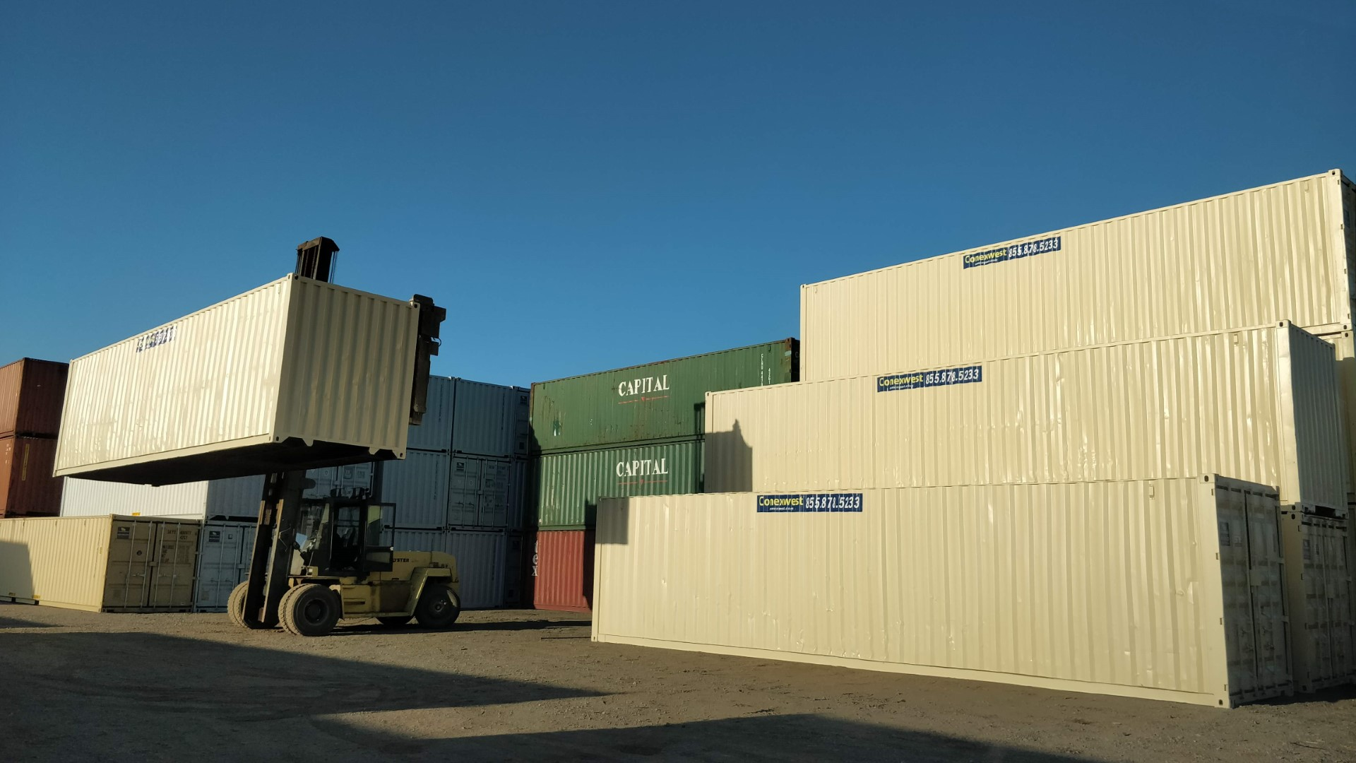 conexwest shipping container yard