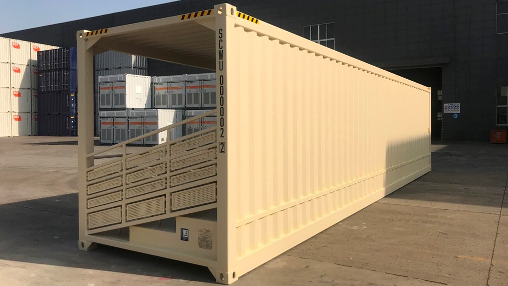 40ft bleacher stadium shipping container