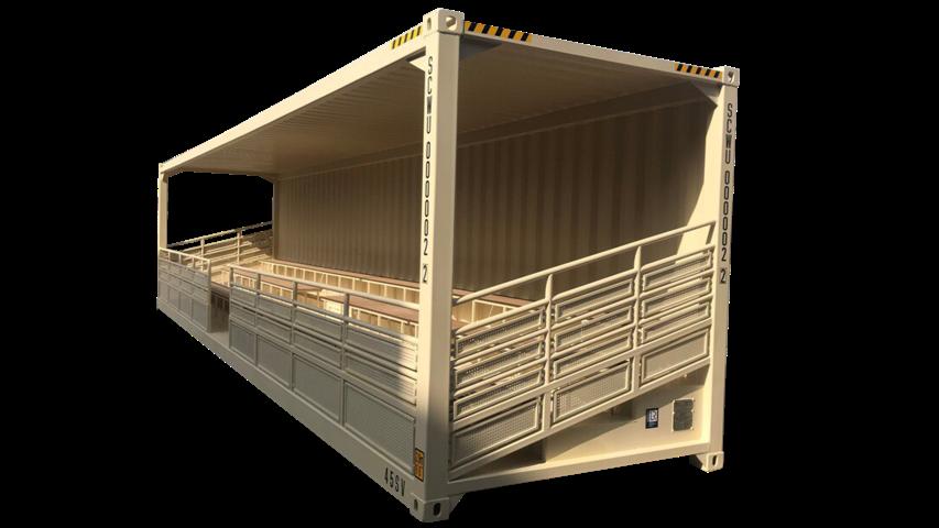 40ft bleacher stadium container