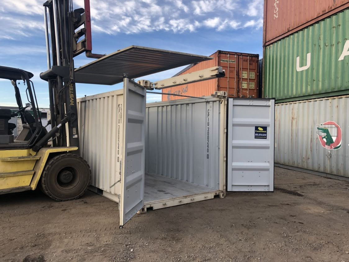 Used 20ft open top hard roof shipping container