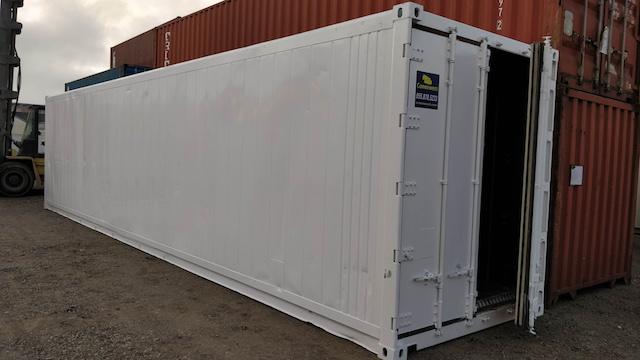 40' Insulated storage container for rent