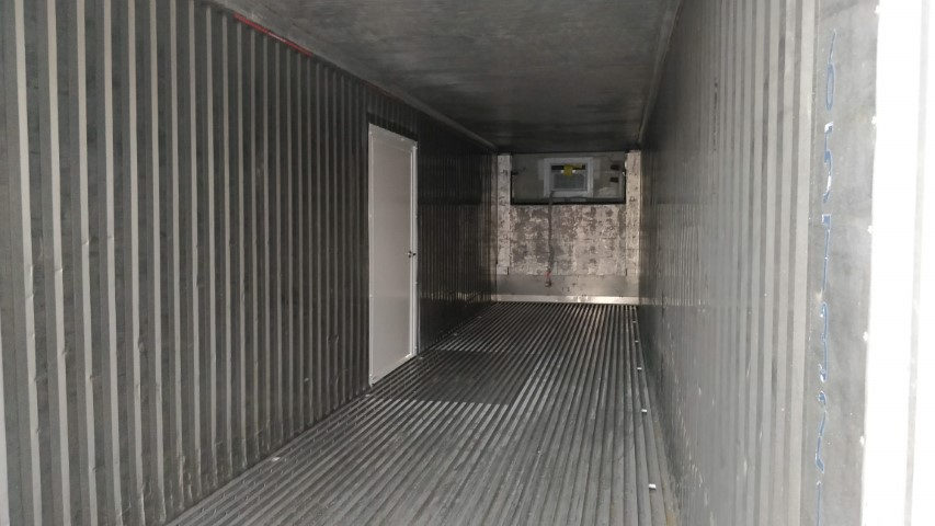 40' Insulated storage container interior for rent