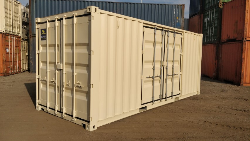 20' Quad door shipping container for sale