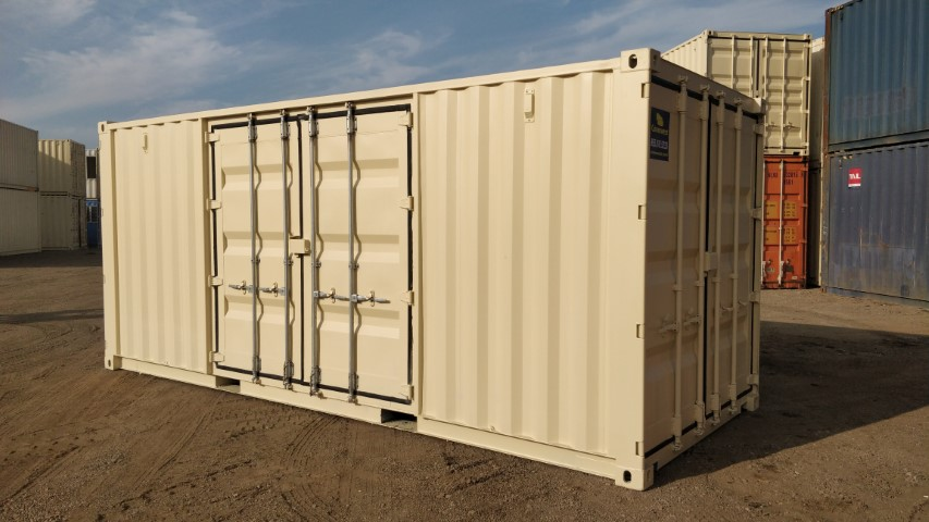 20ft quad door shipping container for sale