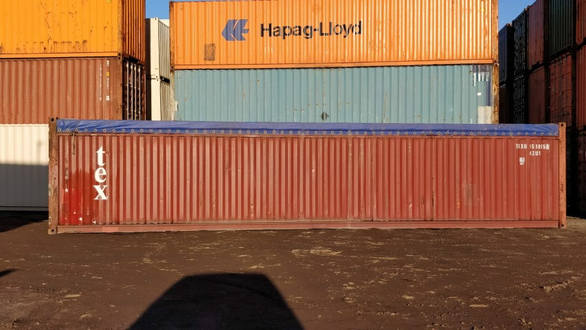 Used 40ft open soft top container for sale