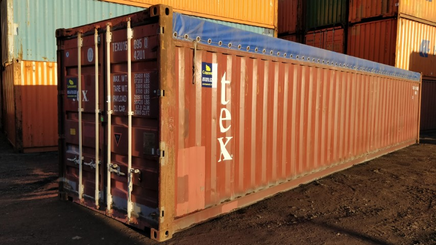 40ft open top soft roof shipping container for sale near ...