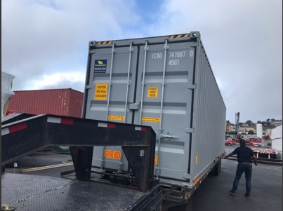 Long distance moving with a storage container