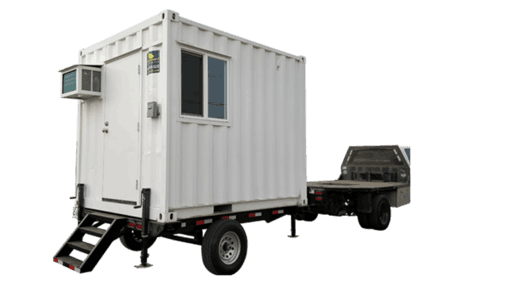10' Office container with trailer for sale