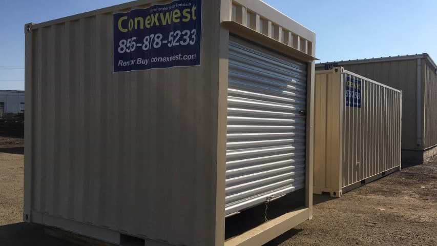 10' Storage container with roll-up door for sale