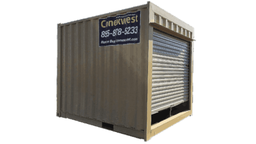 10' Office container with roll-up door for sale