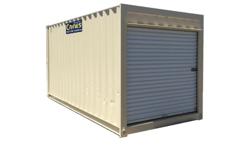 16' Storage container with roll up door for sale
