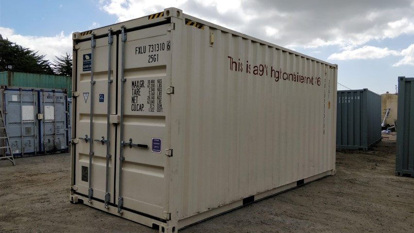 20' high cube shipping container for rent