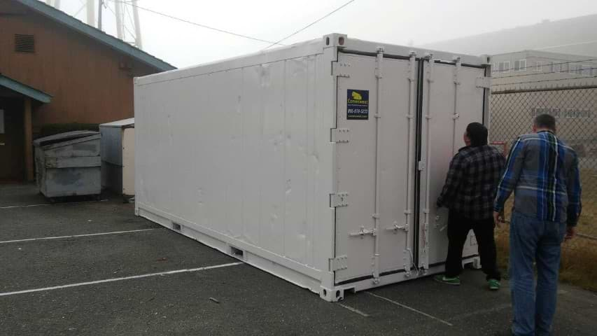 20' Refrigerated shipping container for rent