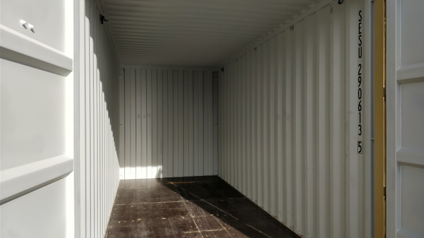 20' high cube shipping container interior for rent