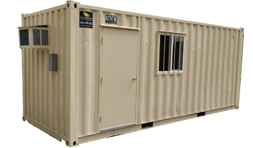 20' Combo office and storage container for rent