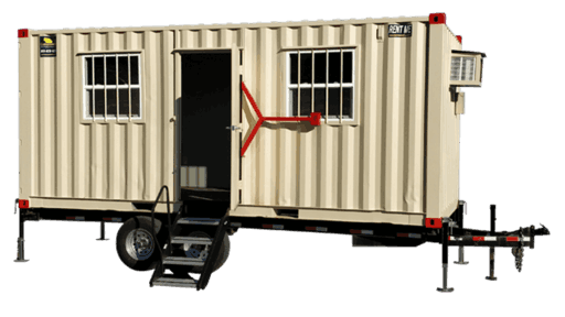20' Office container with trailer for sale