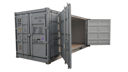 20' Open side storage container for rent