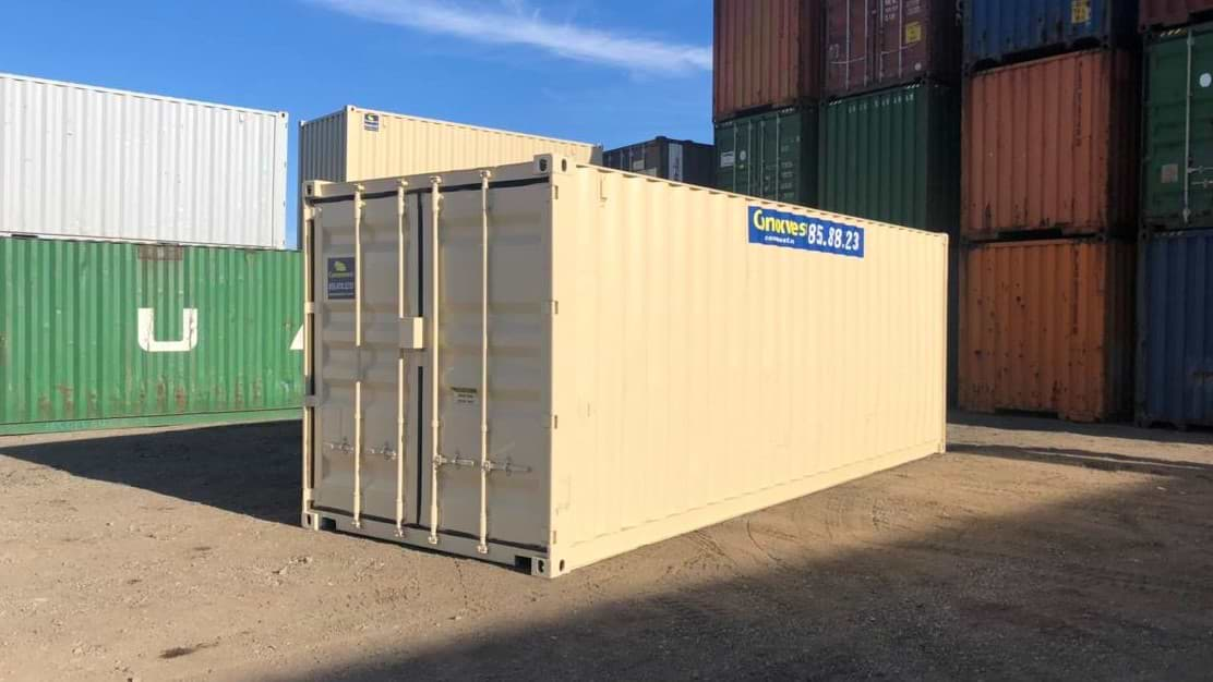 Refurbished 24ft storage container for sale