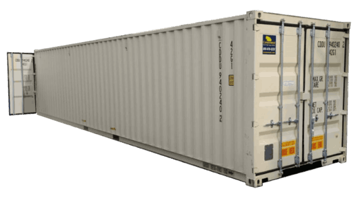 40' Storage container with cargo doors on both ends for sale