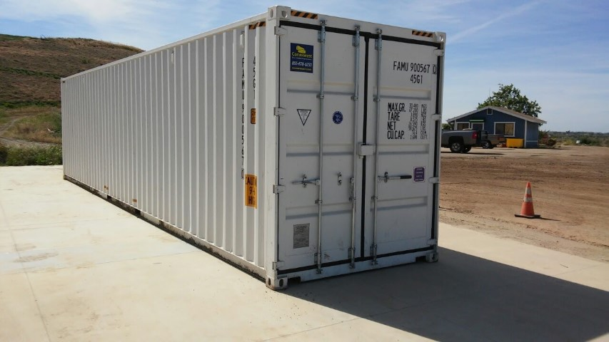 40' High cube container with double doors for sale
