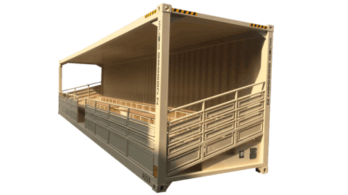 40' High cube bleacher container for sale